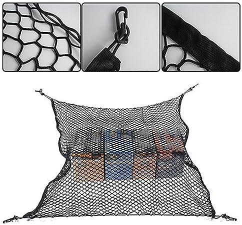 newhashiqi Filet de Rangement Universel pour Coffre de Voiture avec 4 Crochets