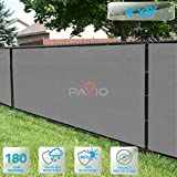 PATIO Fence Privacy Screen 4' x 9', Pergola Shade Cover Canopy Sun Block, Heavy Duty Fence Privacy Netting, Commercial Grade Privacy Fencing, 180 GSM, 90% Privacy Blockage (Light Gray)