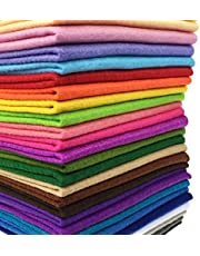28pcs Thick 1.4mm Soft Felt Fabric Sheet Assorted Color Felt Pack DIY Craft Sewing Squares Nonwoven Patchwork