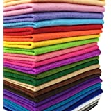 flic-flac 28pcs 12 x 8 inches (30cmx20cm) 1.4mm Thick Soft Felt Fabric Sheet Assorted Color Felt Pack DIY Craft Sewing Squares Nonwoven Patchwork
