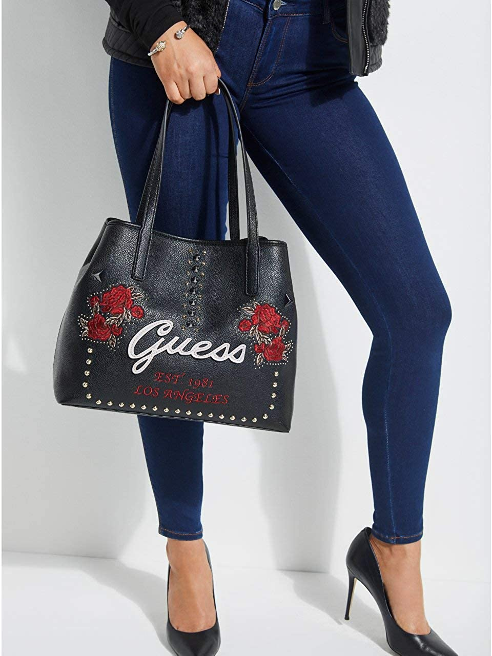 GUESS HWEF69 95230 Bolso gran Accesorios VIKKY TOTE BLACK