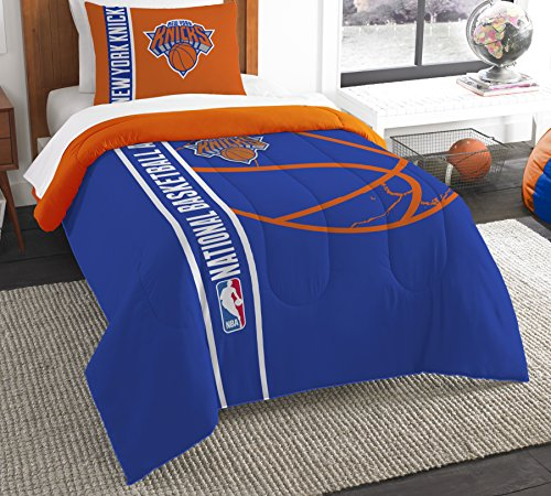 The Northwest Company Officially Licensed NBA New York Knicks Reverse Slam Twin Comforter and - Knicks New York Set