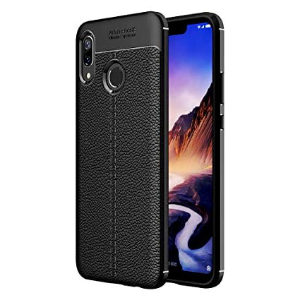 reputable site 5a43f 44301 Golden Sand Compatible with Huawei Honor Play Back Cover Leather Texture  Series Shockproof Armor TPU Cover Case for Mobile, Midnight Black