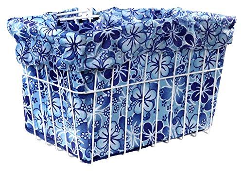- Cruiser Candy Blue Hawaiian Hibiscus Bicycle Basket Liner