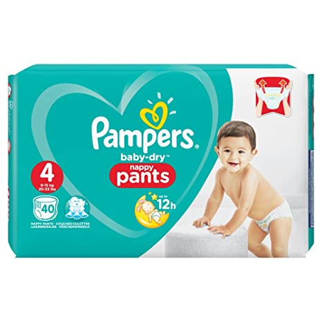 Pampers Baby Dry Pants Taille 4 8 A 15kg 40 Couches Amazonfr