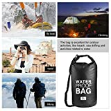 YTYC Drifting Waterproof Bucket Travel Waterproof Bags Organizer Bucket Bag Single Shoulder Black (5L)