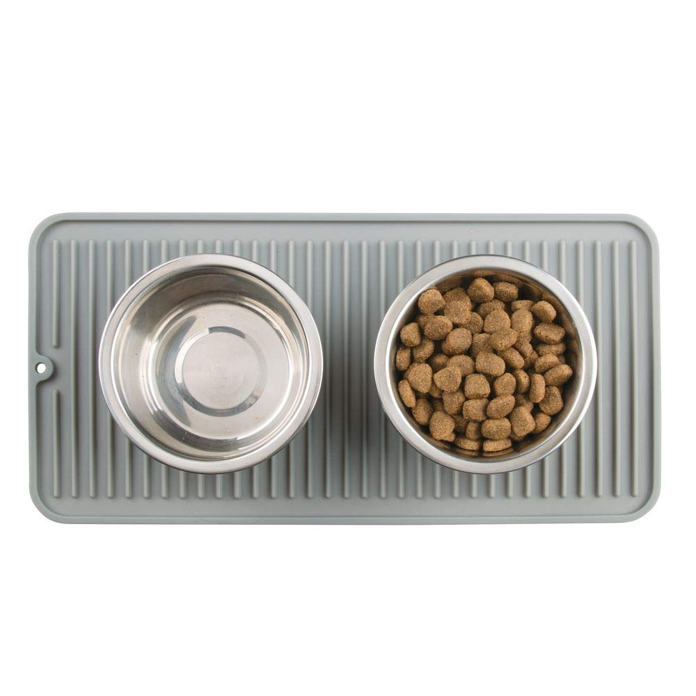marrone scuro Tappetini sottociotola per cani e gatti in silicone mDesign Tappetini igienici per cani rettangolari Piccolo Tappetino sottociotola antiscivolo