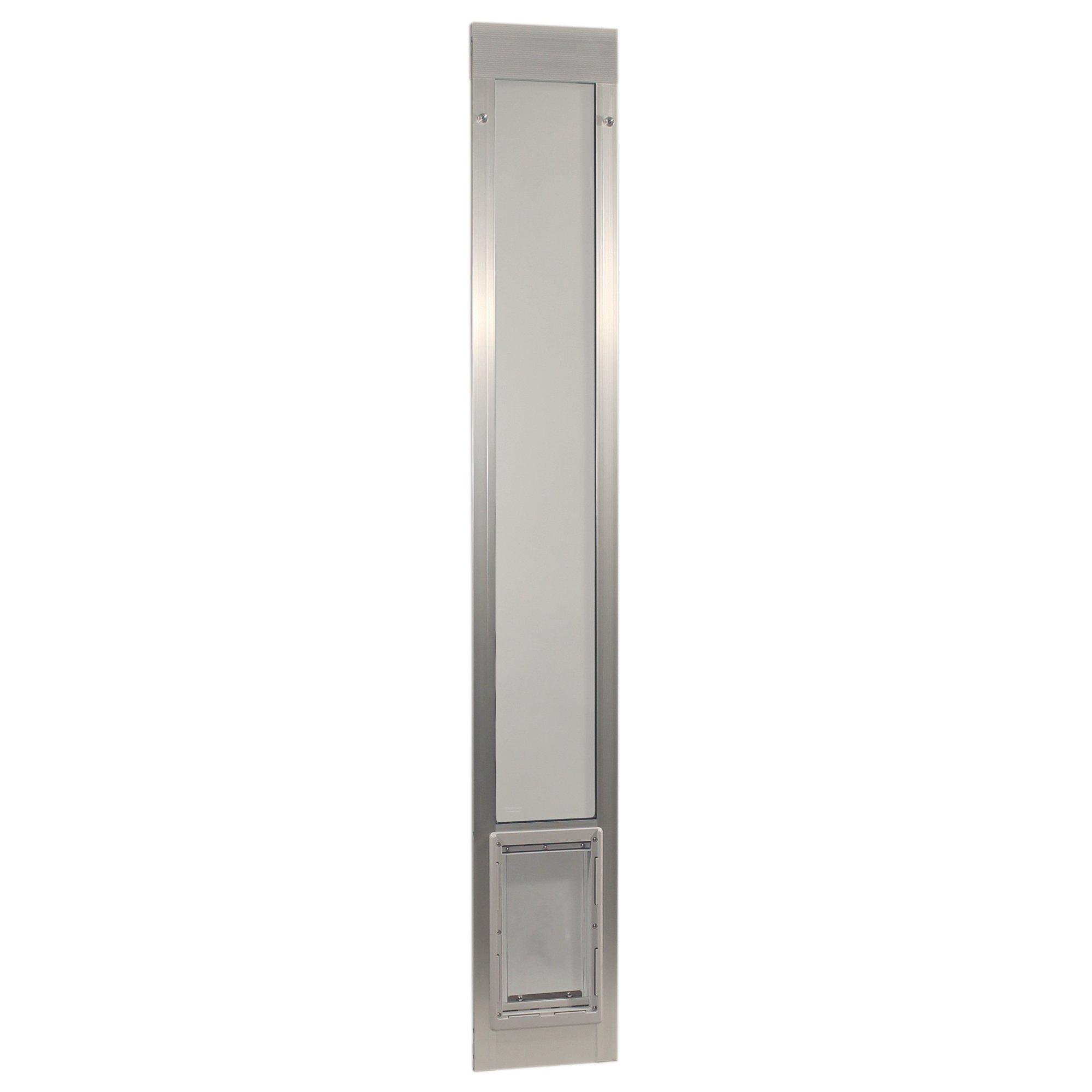 Ideal Pet Products Fast Fit Aluminum Pet Patio Door Mill, Medium/7'' x 11.25''/80'', Silver