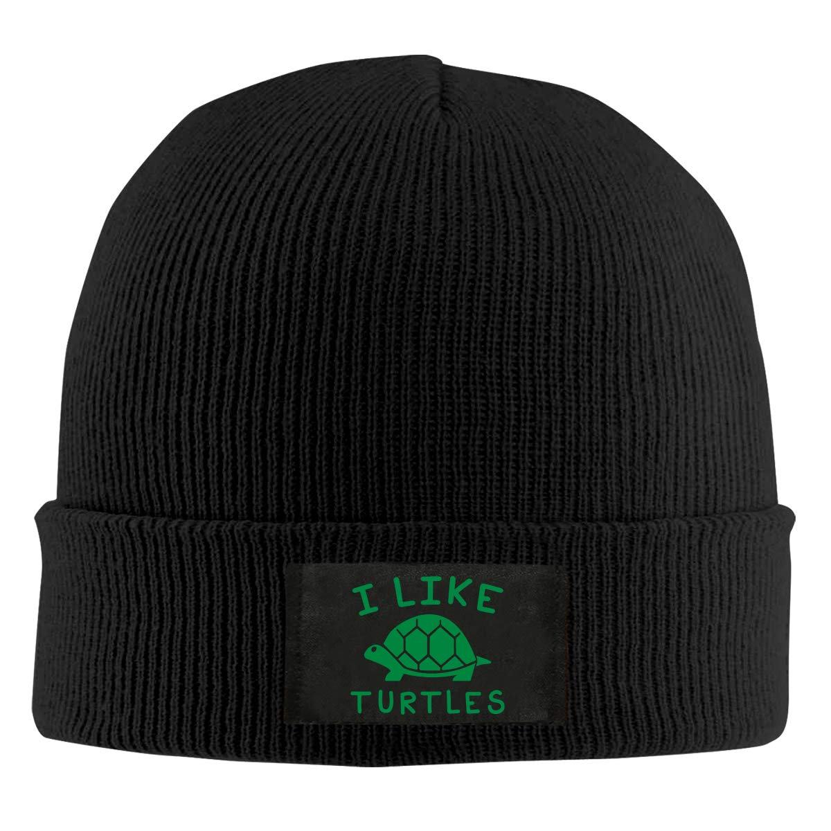 Unisex I Like Turtles Knit Cap 100/% Acrylic Trendy Skull Cap