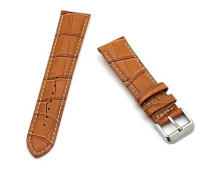 35ba13812706 【20mm / ライトブラウン】 腕時計 交換用 本革 ベルト イタリアン カーフ レザー バンド