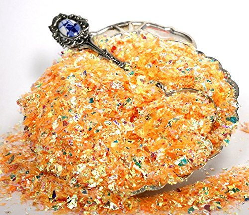 Orange - Golden Orange - Iridescent Ice Flakes - 1 oz Bag - 311-4373