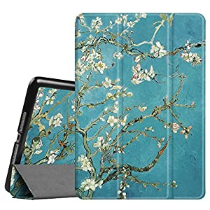 """Fintie iPad 9.7 Inch 2017 Case - Lightweight Slim Shell Standing Cover with Auto Wake / Sleep Feature for Apple iPad 9.7"""" 2017 Release Tablet, Blossom"""