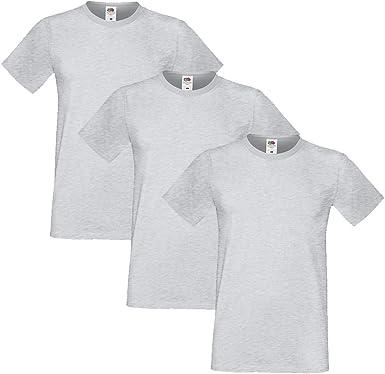 Fruit of the Loom Hombre Sofspun Pack of 3 Camiseta XXX-Large Cuero Gris: Amazon.es: Ropa y accesorios