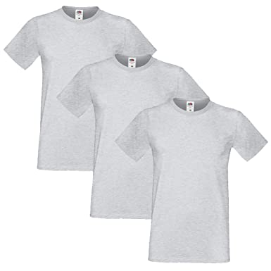 Fruit of the Loom Hombre Sofspun Pack of 3 Camiseta XX-Large Cuero ...