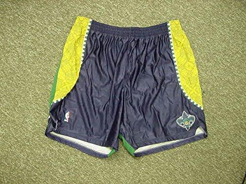 Emeka Okafor Mardi Gras Adidas New Orleans Hornets Game Worn Shorts