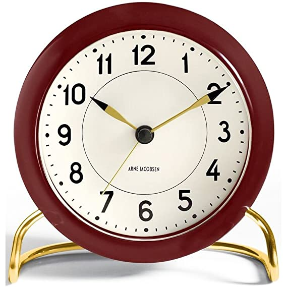 1a1618b5796 Amazon.com: Arne Jacobsen Table Clock Station with Alarm: Home & Kitchen