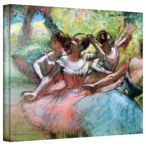 - ArtWall 'Four Ballerinas on The Stage' Gallery Wrapped Canvas Artwork by Edgar Degas, 36 by 48-Inch