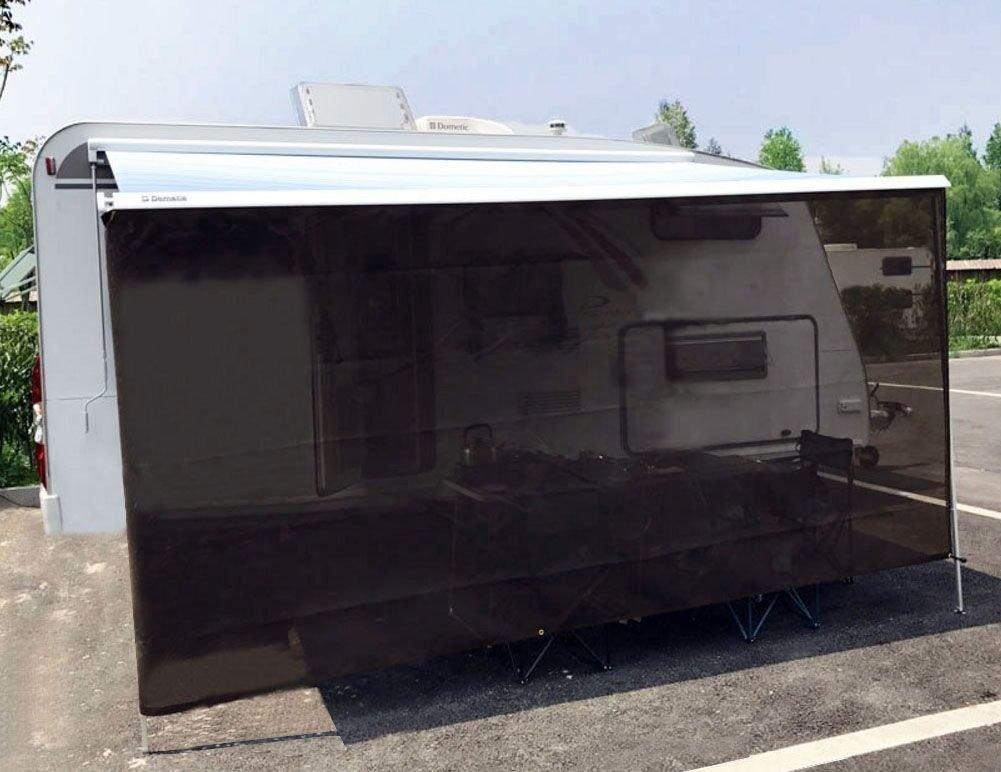 Tentproinc RV用日よけネットコンプリートキット モーターホーム/トレーラーの日よけ網 格納式タープ 網キャノピーシェルター 7' x 18' ブラック TPS071801 B075R82ZLL 7' x 18',ブラック