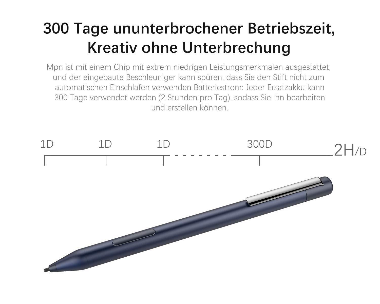 Blau NEUE DAWN Ersatz Eingabestift Stylus Active Pen f/ür HP Spectre x2 12-c0xx x360 13-ac0xx 13-ae0xx 15-blxxx 15-ch0xx 15-df0xx mit 1024 Ebenen der Druckempfindlichkeit und Aluminium K/örper
