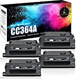TRUE IMAGE Compatible Toner Cartridge Replacement for HP CC364A HP LaserJet P4014 P4015N P4015X P4515N P4515X 13500 Yield 4 Pack Black