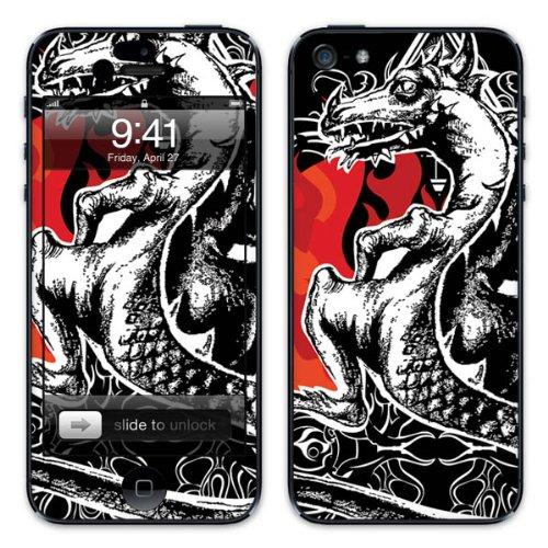 Diabloskinz B0081-0004-0027 Vinyl Skin für Apple iPhone 5/5S Red Dragon