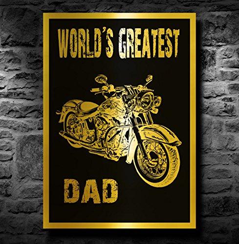 akgifts-harley-davidson-motorbike-a4-metallic-gold-print-unframed-worlds-greatest-dad
