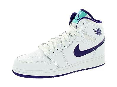 hot sale online 02bdf fc721 ... release date jordan nike kids air 1 retro high gg white crt purple lt  rtr 20148