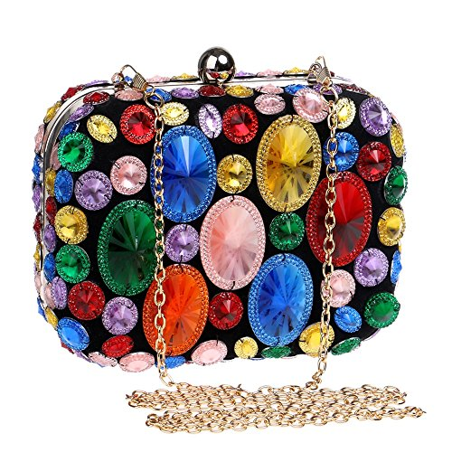 Beaded Acrylic Shoulder With TuTu Dinner multicolor Wedding Day For Women Chain Purse Bags Clutches Small Bags Evening Party Evening 5HwAqpAB