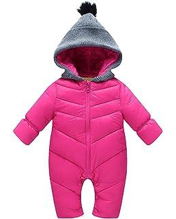 478490b21589a ベビー服 女の子 ジャンプスーツ カバーオール 着ぐるみ 新生児 中綿 厚手 防寒 出産祝い ローズ 90