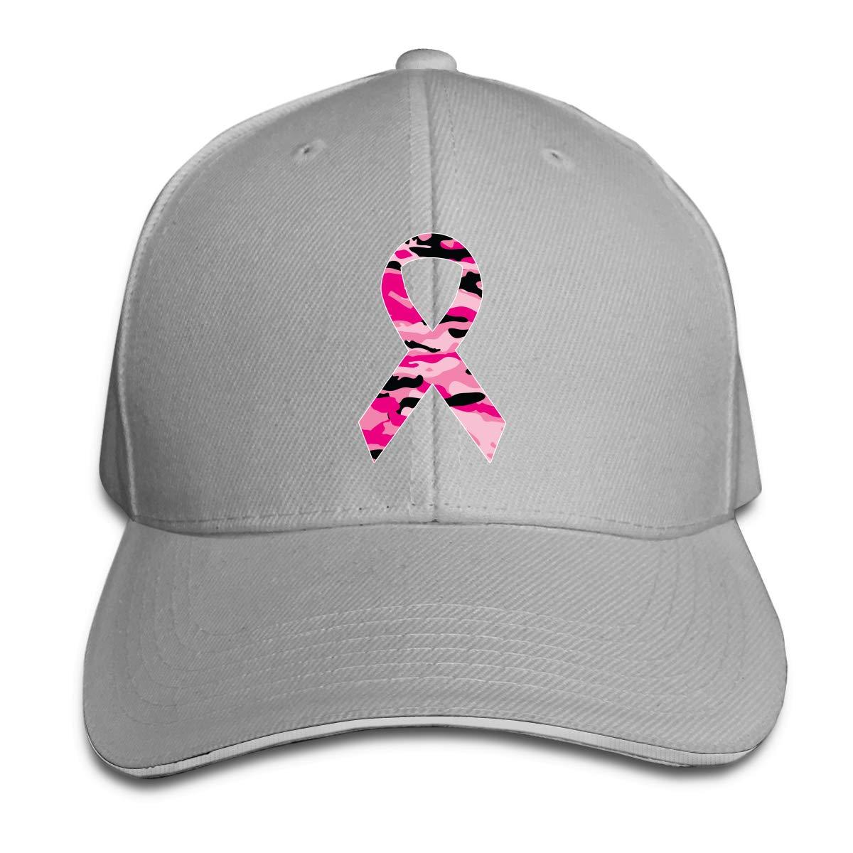 WFIRE Adult Baseball Caps Carmouflage Pink Ribbon Custom Adjustable Sandwich Cap Casquette Hats