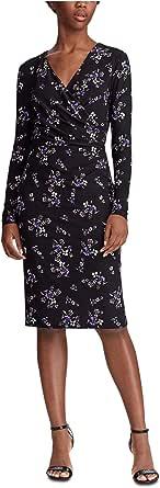 LAUREN RALPH LAUREN Printed Matte Jersey Nemota Long Sleeve Day Dress