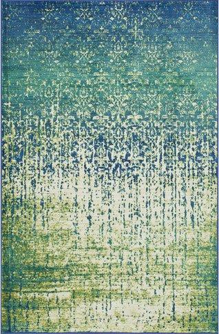 Skye Monet Blue Cascade Area Rug For Living Or Dining Room Floor (7u00277