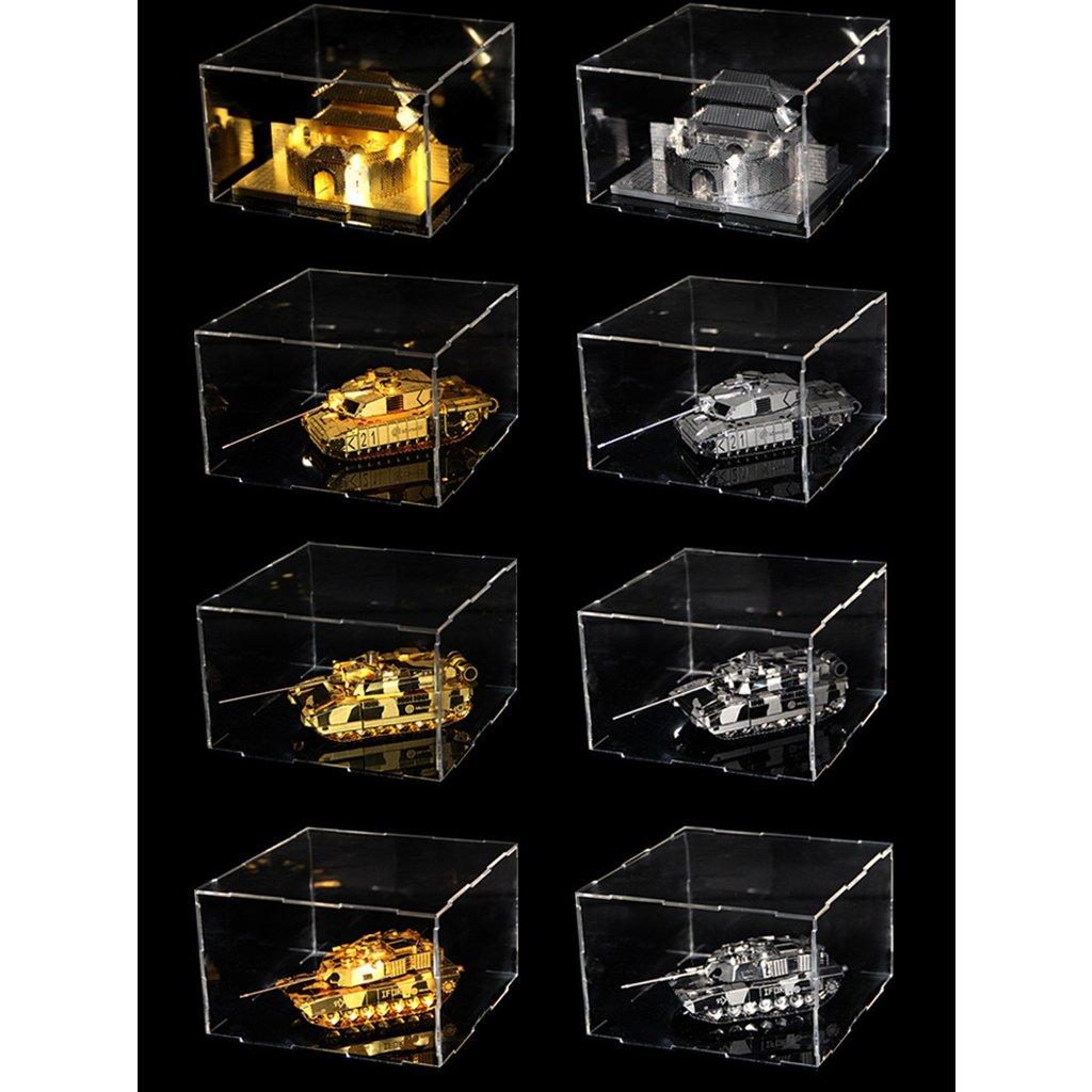 Polvo Estuche para Colecci/ón de Modelo de Veh/ículos Estatuas non-brand Sharplace Vitrina de Acr/ílico Transparente Caja de Exposici/ón Anti 13x13x9cm