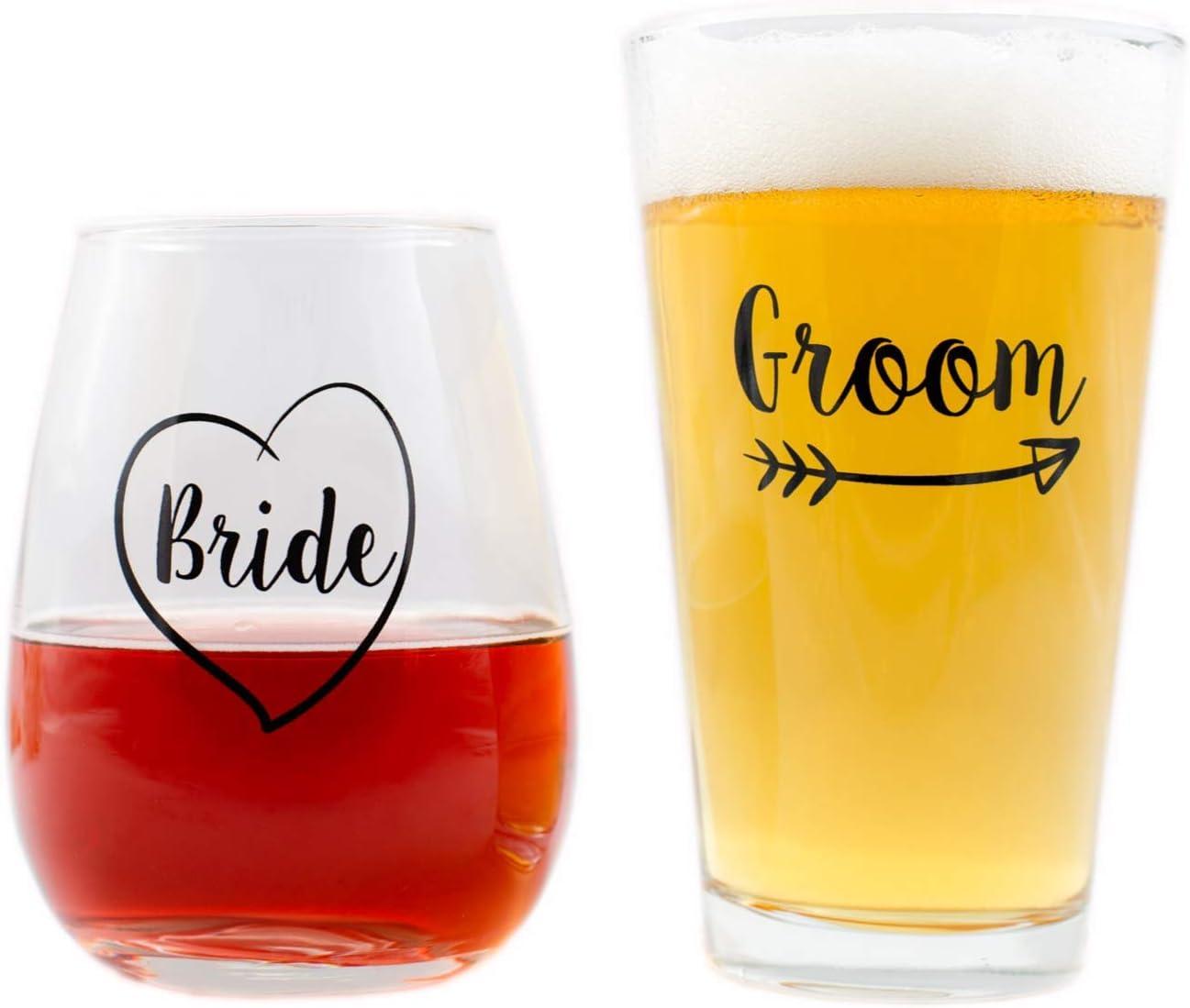 Amazon Com Cute Wedding Gifts Bride And Groom Novelty Wine
