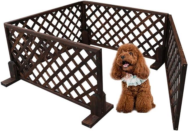 YXZQ Valla para Perros de Madera para jardín Balcón Interior al Aire Libre para Perros pequeños, casa de Corral para Animales medianos, 4 Paneles, 90× 90× 60cm: Amazon.es: Hogar