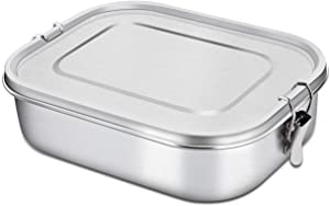 Bento Box 47 OZ Stainless Steel LunchBox For Kids Food Containers with Lock Clips