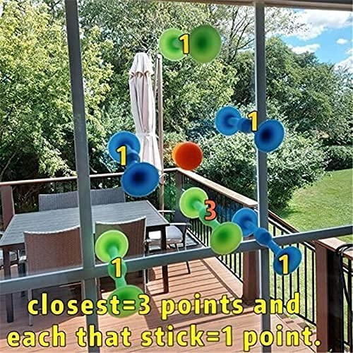 Sucker Toys 1 Set Soft Silicone Building Blocks Suckers Toy Silicone Target Marker and Darts Funny Toy Set Outdoor Competitive Games,Super Popular Family Interactive Release Stress Toy