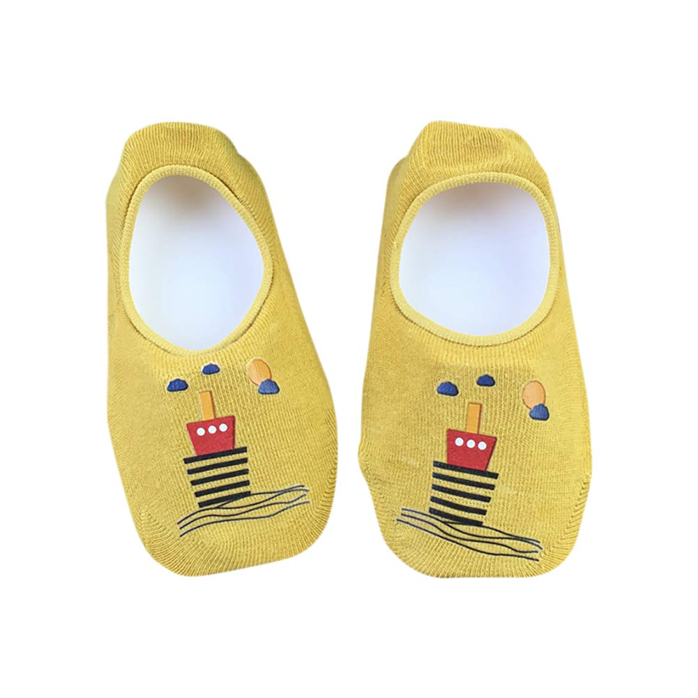 Boat Long Series Children Cartoon Print Cute Anti-Skid Floor 7 Pairs of Girls Bow Cotton Breathable Casual Socks