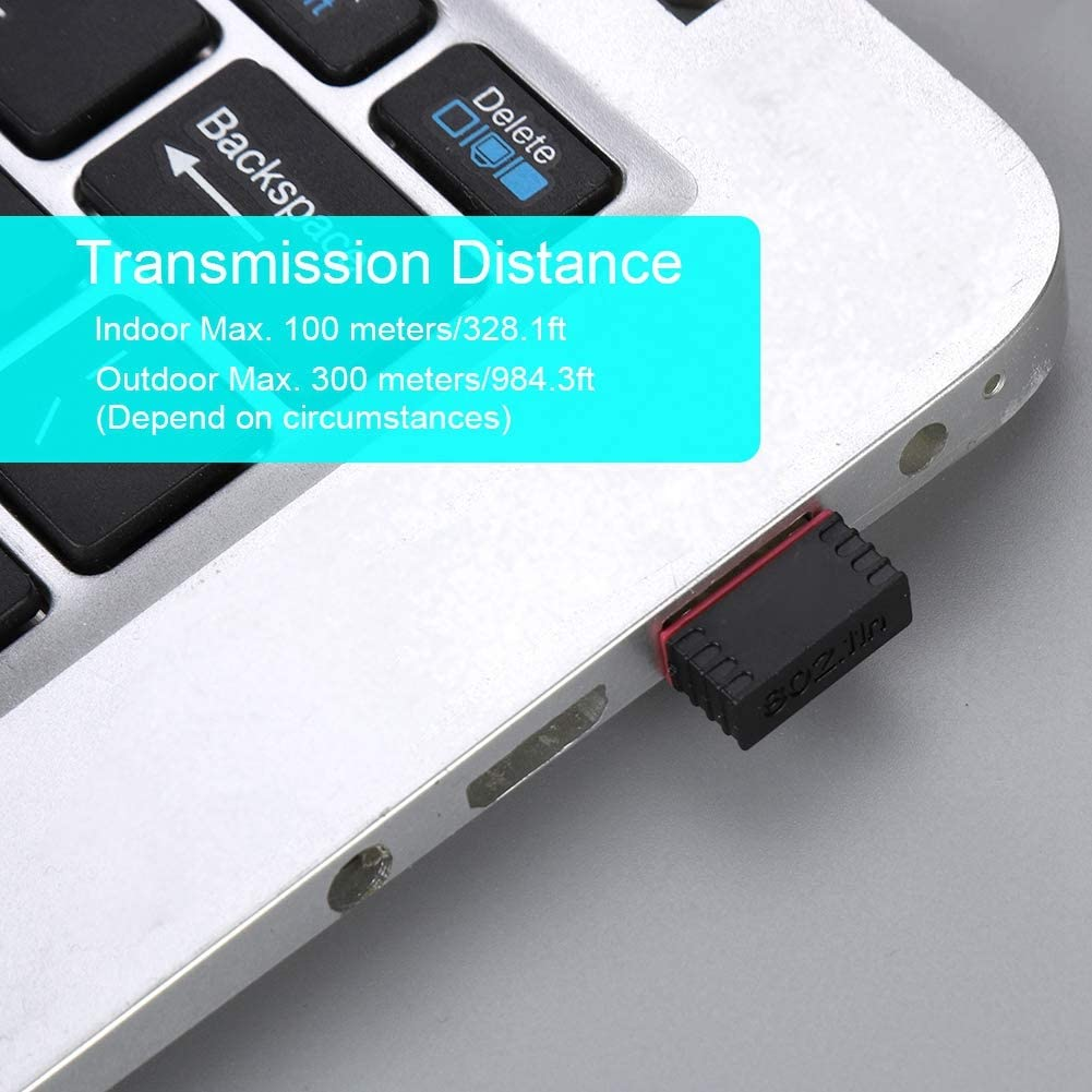 Oumij Network Card 150Mbps Adapter 2.4Ghz USB2.0 Wireless Network Card Wireless Receiver