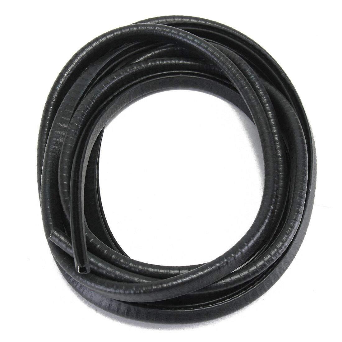 13FT(4M)Black Car Auto Edge Protector U-shaped Rubber Seal Trim Molding Strip