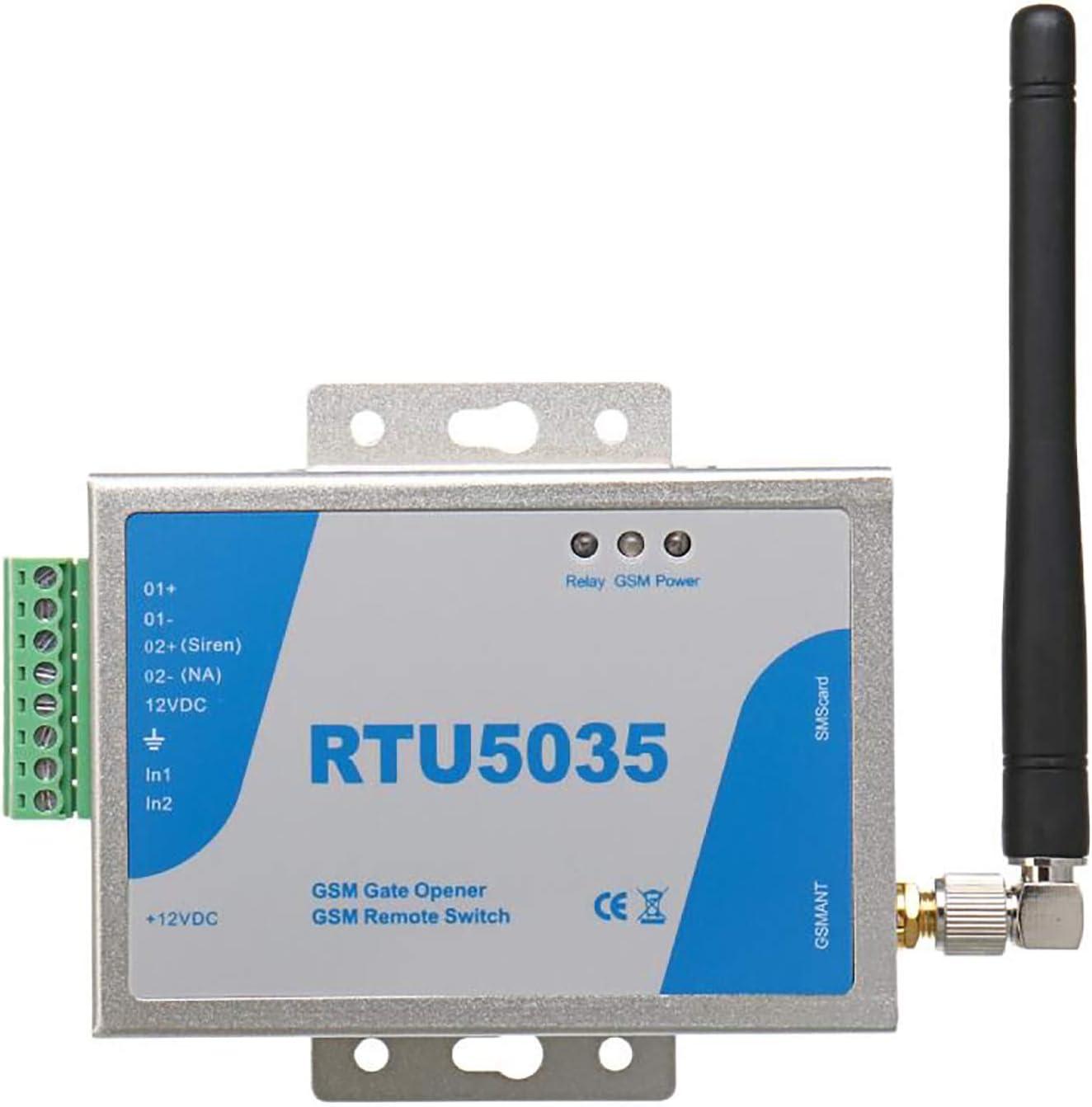 Interruttore remoto gsm apriporta con Controllo quadrante GSM RTU5035 Cancello di gsm,gsm apriporta Garage,con Chiamata Gratuita o SMS di Comando