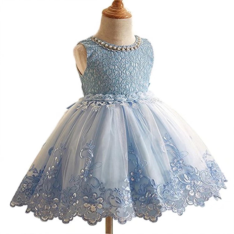Amazon.com: ZaH Girl Party Dress Kids Ruffles Lace Party Wedding ...