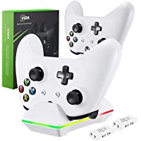 Controller Charger for Xbox One, CVIDA Dual Xbox One/One S/One Elite Charging Station with 2…