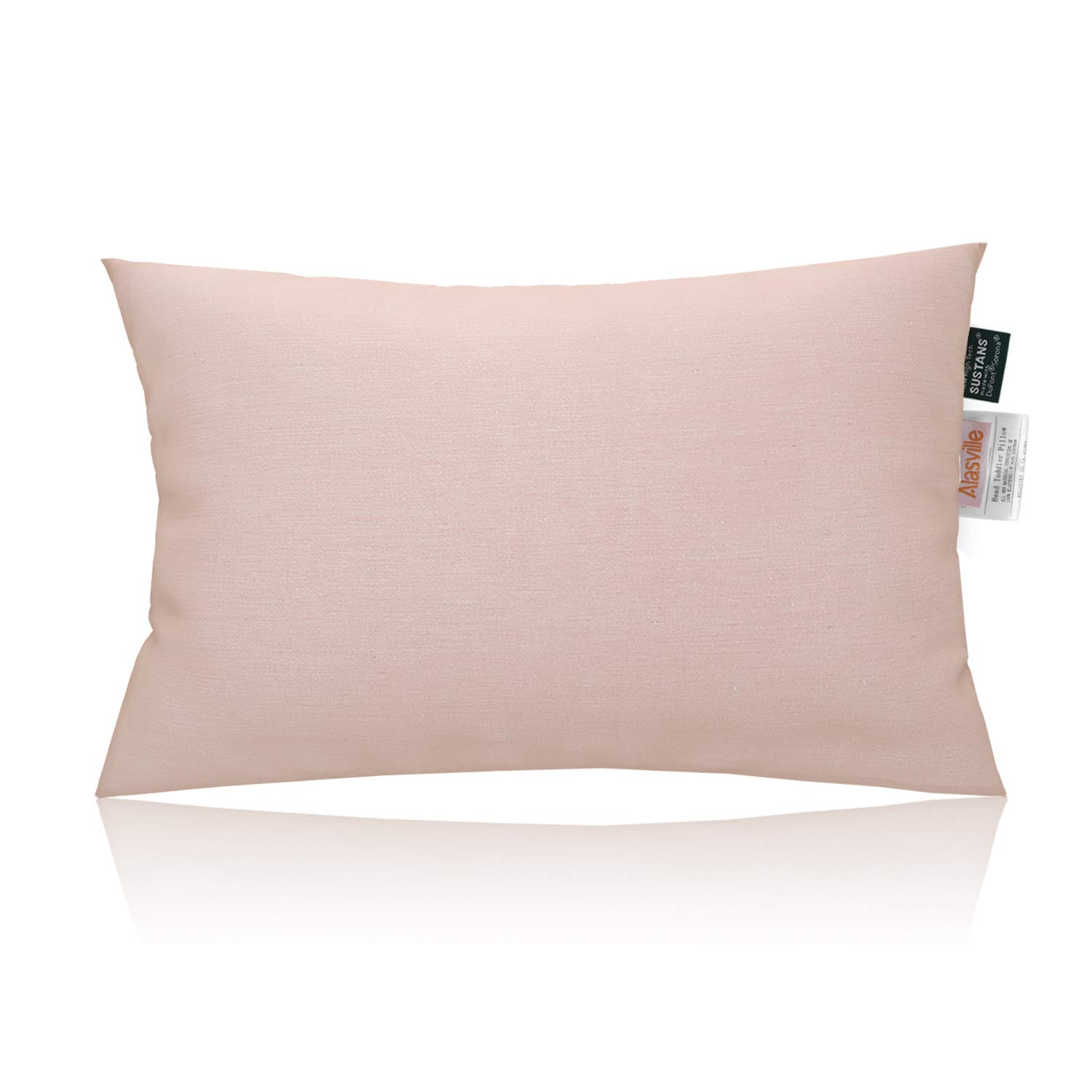 Soft 100% Organic Cotton Toddler Pillow - ALASVILLE Natural Breathable Hypoallergenic Sleeping Pillows for Kids/Baby/Children, Antibacterial & Anti-mite, Pillow Only - 13