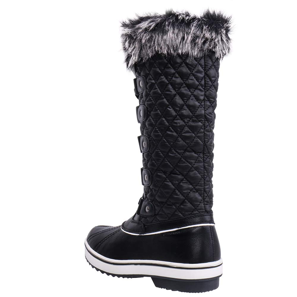99ab064eb5d ALEADER Women s Waterproof Winter Snow Boots  Amazon.co.uk  Shoes   Bags