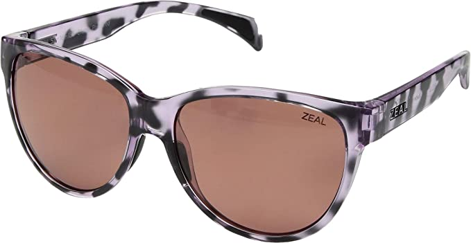 febe9a52a8c Zeal Optics Unisex Isabelle Lilac Tortoise Polarized Rose Lens One Size
