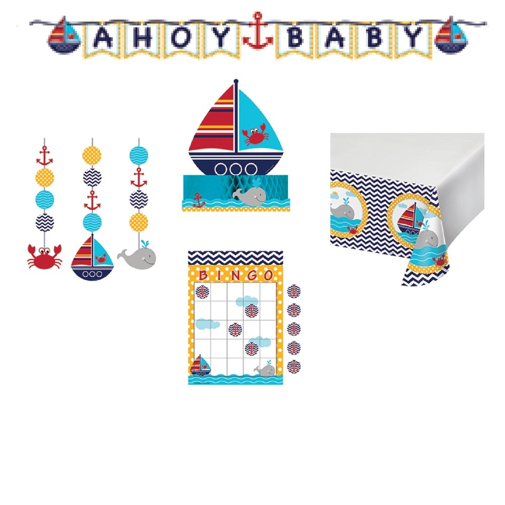 Ahoy Matey Nautical Baby Shower Kit Game and Decorations Kit by Creative Convertting