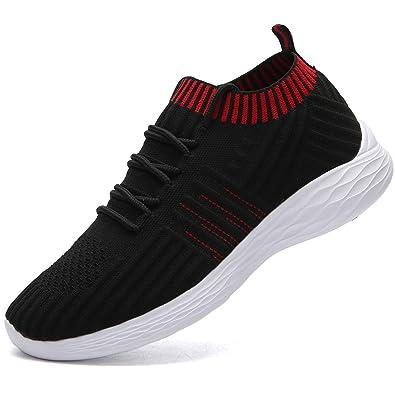e596ff0ce230e NASONBERG Damen Leichte Laufschuhe Trainer Sneaker Turnschuhe Atmungsaktive  Fitnessschuhe Sportschuhe,Schwarz,36 EU