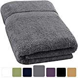 Utopia Towels Soft Cotton Machine Washable Extra Large Bath Towel (35-Inch-by-70-Inch) - Luxury Bath Sheet - Gray