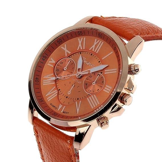 Para mujer ginebra números romanos cuarzo relojes, tecla Unique Fashion limpieza Lady relojes relojes para
